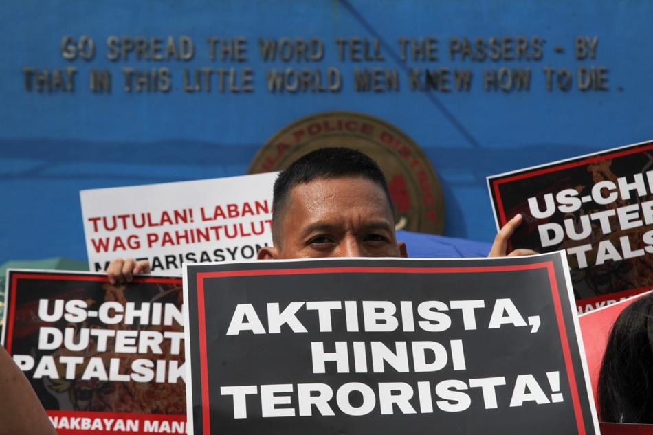 'Activists not terrorists'
