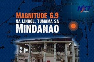 Magnitude 6.9 na lindol, tumama sa Mindanao