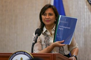 VP Robredo postpones release of drug war report after powerful quake