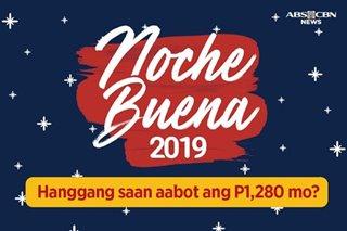 2019 Noche Buena basket: Hanggang saan aabot ang P1,280 mo?