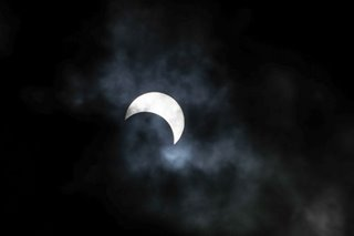 Partial solar eclipse seen in Manila