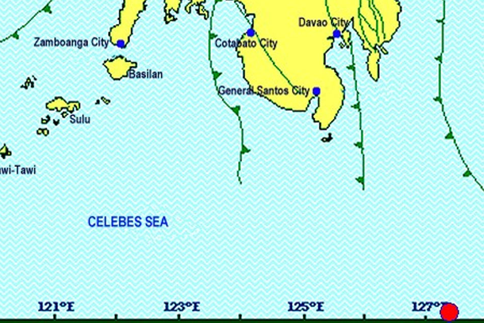 Magnitude 4.1 quake hits Davao Occidental; no damage expected 1