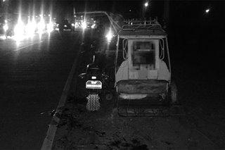 Lalaki patay matapos sumalpok sa truck ang sinasakyang traysikel