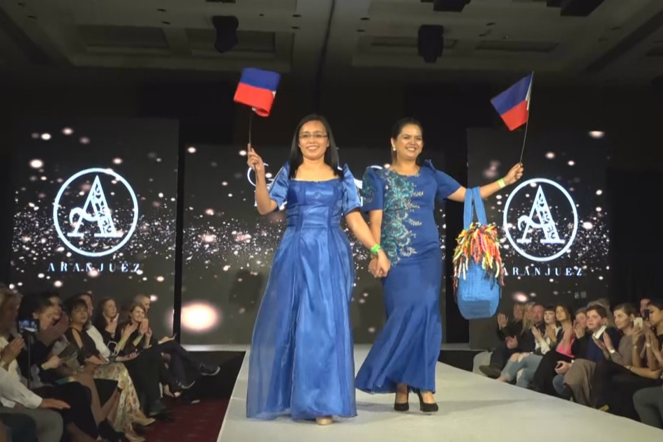 Bag, tela mula Compostela Valley, bumida sa London Fashion Week