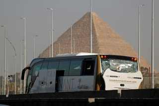 Blast injures tourists near Egypt's Giza pyramids