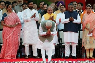 India's Modi sworn in, set to name new government