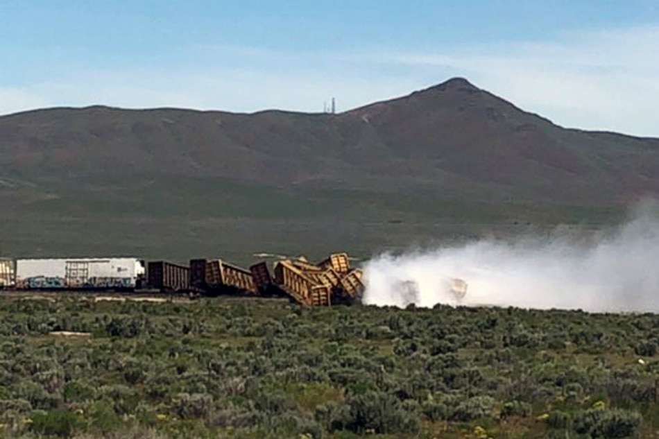 Train Carrying Grenades, Ammonium Nitrate Derails in Nevada (VIDEO, PHOTO) class=