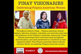 'Pinay Visionaries' honored in Chicago in commemoration of Fil-Am History Month