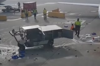 Fil-Am airport worker stops runaway cart on tarmac