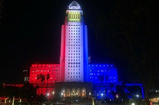 LOOK: Los Angeles City Hall lights up in PH colors