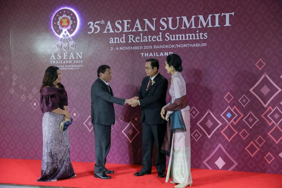 Duterte at ASEAN Gala dinner