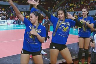 WATCH: Time for Lady Eagles Ravena, Gaston to shine — with championship dance