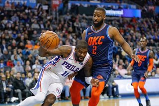NBA: Sixers beat Thunder for first time since 2008