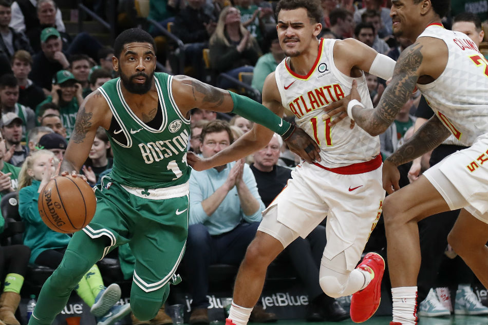 Irving, Celtics survive late charge by Hawks