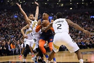 NBA: Thunder rally to knock off Raptors