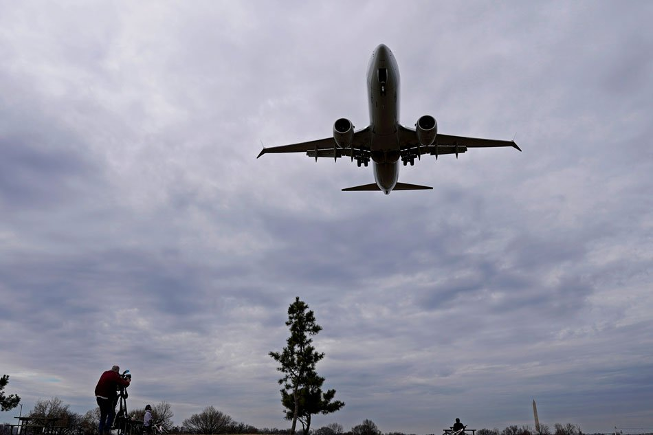 An American Airlines Boeing 737 MAX 8 flight from Los Angeles approaches for landing at Reagan National Airport. Joshua Roberts Reuters  File