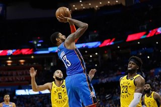 NBA: Thunder extend Pacers' road woes with comeback win
