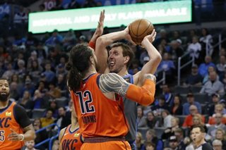 NBA: Mavs survive wild finish to top Thunder