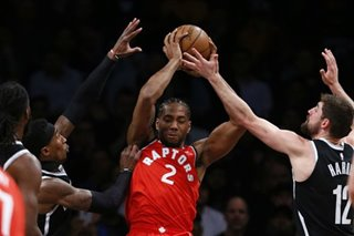 NBA: Raptors clip Nets to win 5th straight