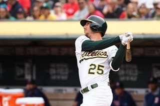 Baseball: Oakland A's, Piscotty beat up Red Sox to win series