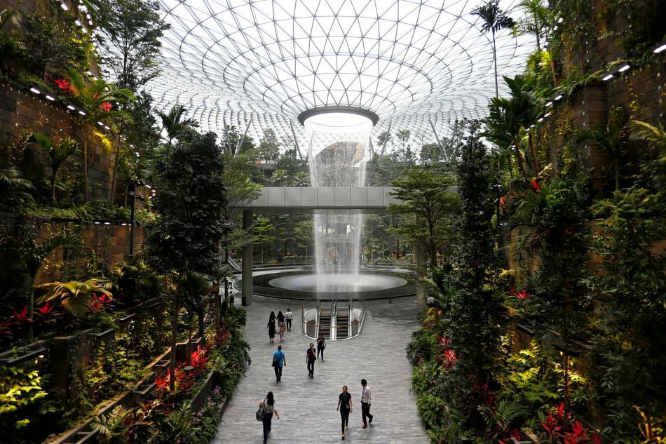 Jewel Changi Airport Rain Vortex