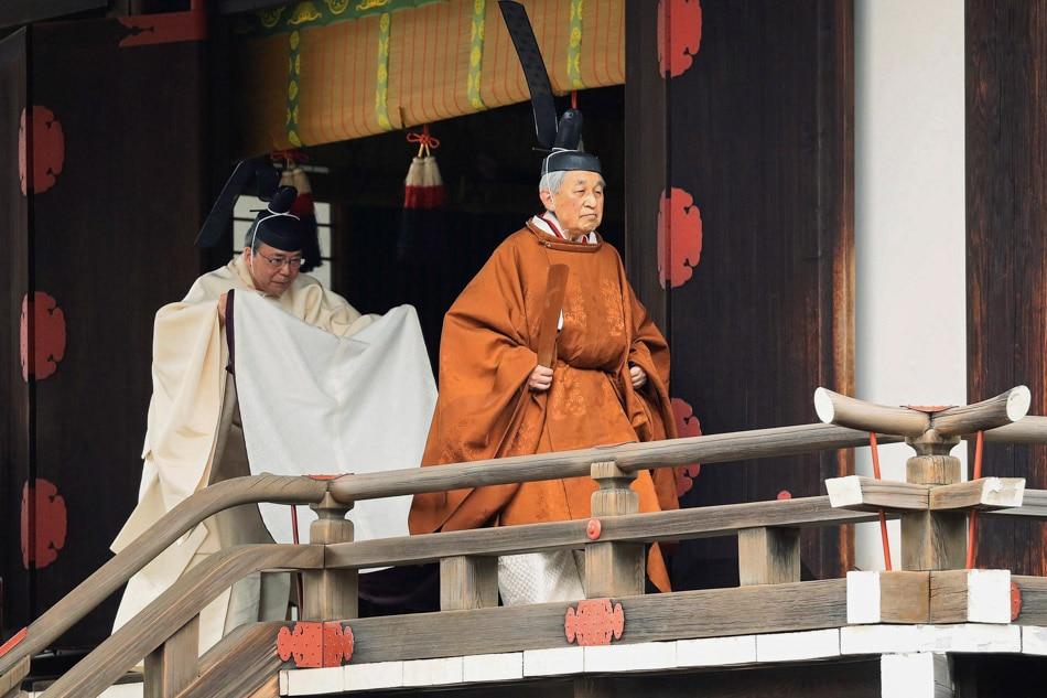 Emperor Akihito's abdication