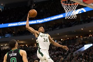 NBA: Antetokounmpo scores from all over as Bucks blast Celtics