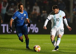Football: Lionel Messi scores twice, as Argentina routs Nicaragua