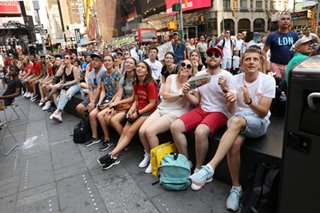 Women's World Cup fans party in New York's Times Square as US tops France
