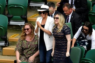 Meghan at Wimbledon to watch old pal Serena