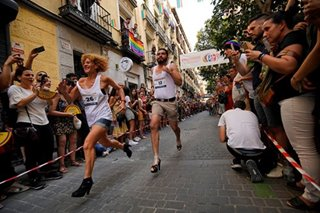Madrid high heels run defies gravity, homophobia