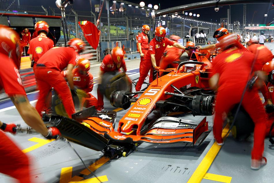F1: Vettel leads Ferrari's Singapore charge but Mercedes on top