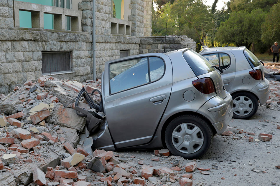 Four of the earthquakes in Albania, at least 108 injured