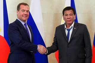 Medvedev welcomes Duterte to 'bigger, better' Russian 'White House'