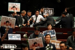 Pro-democracy lawmakers protest
