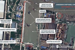 Satellite images reveal China's aircraft carrier 'factory,' analysts say