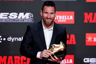 Football: Barca's Messi receives sixth European Golden Shoe