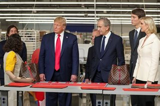 Fashion statement: Trump inaugurates new Louis Vuitton US site