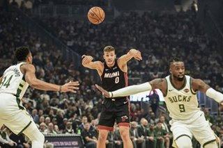 NBA: Dragic, Heat survive Bucks in OT after wild rallies