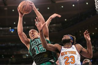 NBA: Celtics start slow, then hammer Knicks in NY