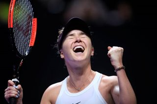 Tennis: Svitolina storms into semis of WTA finals