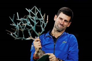 Tennis: Djokovic sends warning to rivals with Paris Masters title
