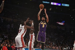 NBA: Lakers get by Heat for seventh straight victory