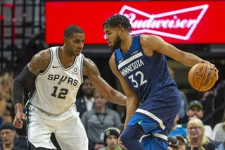 NBA: Reeling Spurs fall to surging Timberwolves