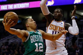 NBA: Celtics shake off tough loss, shut down Suns
