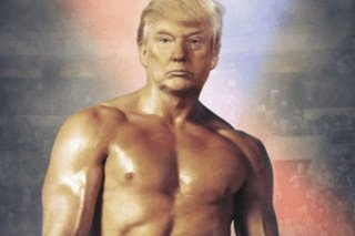 Trump strips away truth with hunky topless photo tweet