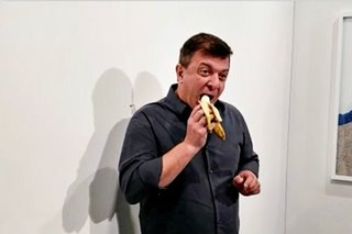 Man who ate $120,000 banana at art show says 'I'm not sorry'