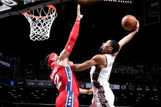NBA: Nets snap Embiid-less Sixers' win streak with 109-89 rout