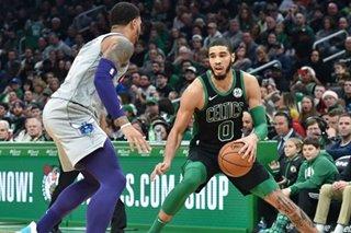 NBA: Jayson Tatum explodes for 39, as Celtics pull away from Hornets