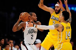 NBA: Battle of Los Angeles sees Leonard-led Clippers trip Lakers